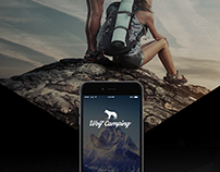 WOLF CAMPING APP DESIGN