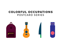 Colorful Occupations - Post Card Series