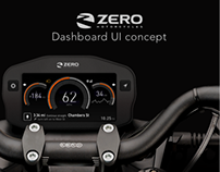 Dashboard UI concept for ZERO Motorcycles