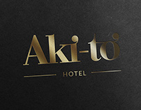 Aki-to Hotel Logo Design