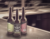 German Lager beer labelling and illustrated microsite
