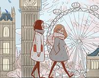 Walking around London town