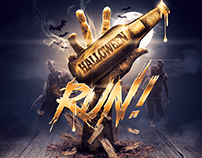 Halloween Zombie Party | Gold Flyer Template