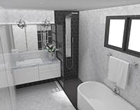 07/2017 Bathroom Interior Design and Vray 3D Model