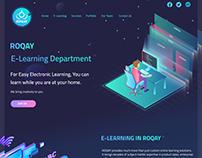 ROQAY E-learning - Website Design