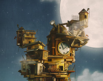 3D Illustration - Fantasy Castle