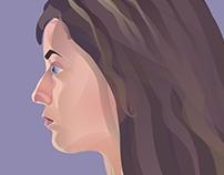 Quick self-portrait in vector