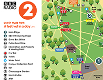 BBC Live in Hyde Park -  map design