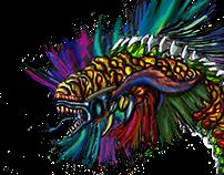 Quetzalcoatl- ilustración digital