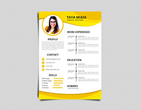 Free Yellow Timeline Resume Template
