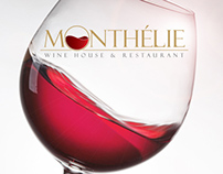 Monthelie Wine Restaurant Logo Design