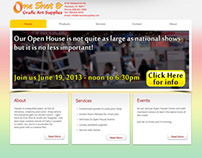 One Shot & Grafic Art Supplies website redesign