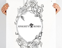 Knight's Roses Illustration for box packaging
