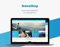 Nano shop/E-commerce template/Web design/UI/UX