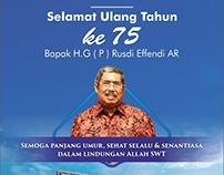 selamat ulang tahun Bapal H.G (P) Rusdi Effendi AR