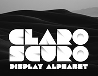 CLAROSCURO Display Alphabet