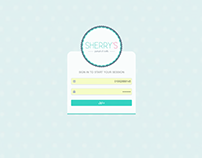 login form, work , shery's project