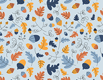 Autumn oak pattern