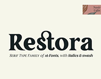 RESTORA - FREE OLD-STYLE SERIF FONTS
