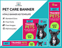Pet Care Banner - HTML5 Ad Template