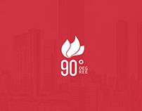 90 DEGREE branding