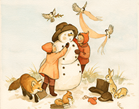 Adventures of the Snowman (children's illustration)