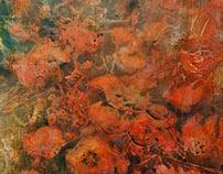 Selle suve moonid / Poppies 120 x 150 cm, summer 2017