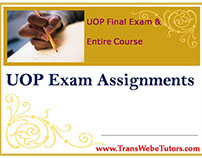 ACC 205 Week 1 Complete  UOP Exam Assignments