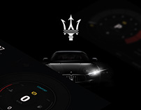 Concept design car dashboard (UI Maserati)
