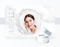 Light Pleasure Cream Website Design & Animation