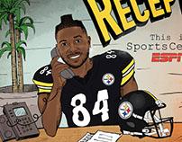 Antonio Brown Illustration for 'This is SportsCenter'
