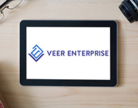 Veer Enterprise Logo Design