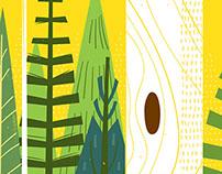 Joyful Woods Art Print