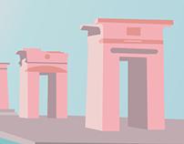Amanecer en el Templo de Debod