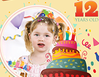 Birthday Party DVD Cover and Label Template Vol.5