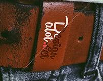 Mens Vintage Leather Belt Free Mockup