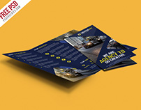 Free PSD : Multipurpose Trifold Business Brochure PSD