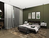 Проект интерьерного решения для гостиничного номера