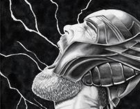 Thor Original Art Sketch Cover
