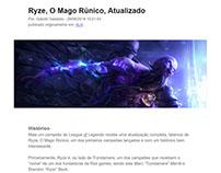 Artigo: Ryze, O Mago Rúnico, Atualizado