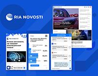 The Ria Novosti website 2018