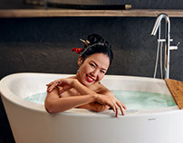 Aquatica Ofuro freestanding bathtub in Japanese style