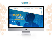 Five9Group Landing Page Design Layout