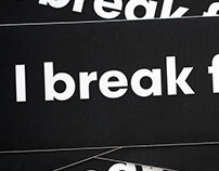 I Break for Orphans: A typographic bumper sticker