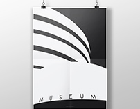 Architecture poster #13. Guggenheim Museum in NY