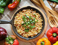 Food Styling: Rice and Peppers