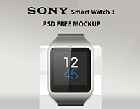 SONY Smart Watch 3. FREE PSD