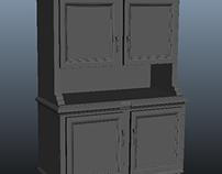 dining room cabinet game asset
