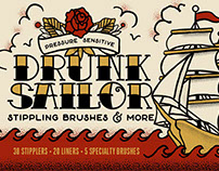 Drunk Sailer Stippling Brushes for Adobe Illustrator