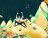 Illustration Starup Magazine - Grupo Expansión mexico